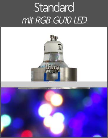 LED Außenleuchten Einbaustrahler IP44 RGB Farbwechsel Standard GU10