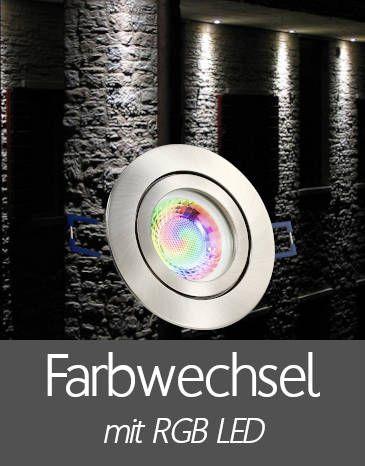 Außenleuchten Einbaustrahler IP44 mit RGB LED