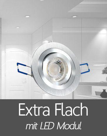 Einbaustrahler mit Extra Flache LED Modul