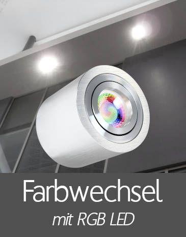 Außenleuchten Aufbaustrahler IP44 mit RGB LED