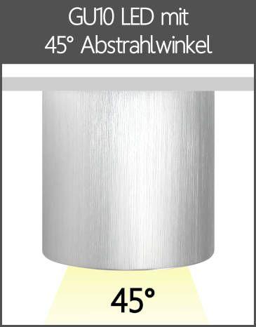 LED Aufbaustrahler GU10 mit Linse 45° Abstrahlwinkel