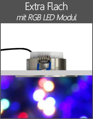 LED Außenleuchten Einbaustrahler IP44 RGB Farbwechsel Extra Flach LED Modul