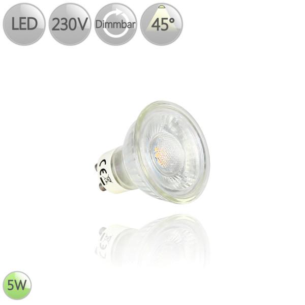 LED Leuchtmittel GU10 5 Watt 45° dimmbar 3000K Warmweiß / 4000K Neutralweiß HO