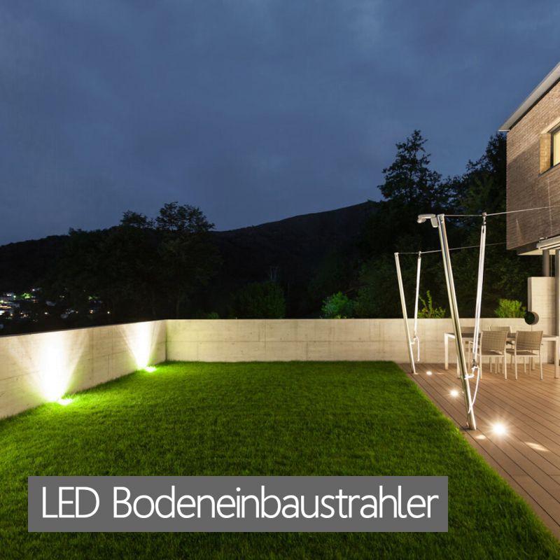 LED Bodeneinbaustrahler RGB Bodenstrahler flache Bodenleuchten für Pflasterflächen, Terrasse und Gartenbeete