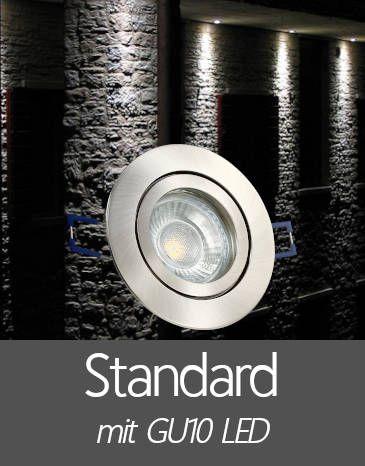 Außenleuchten Einbaustrahler IP44 mit Standard GU10 LED