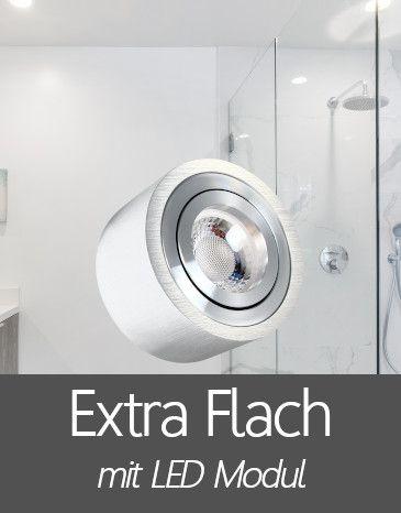 Bad Aufbaustrahler mit Extra Flache LED Modul