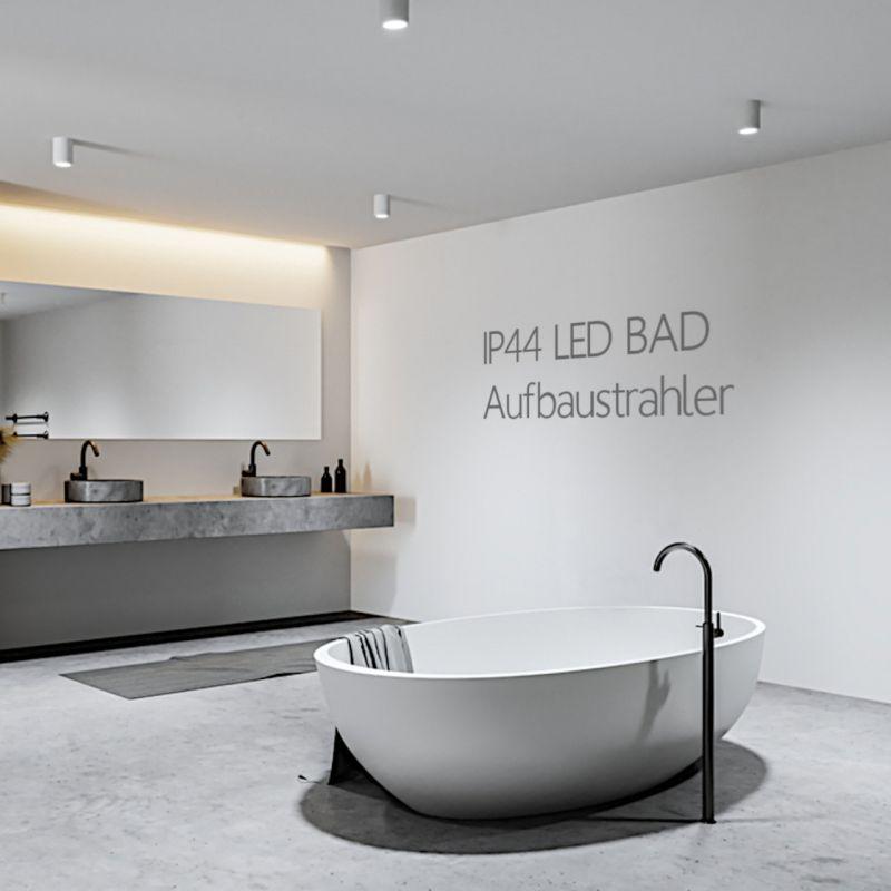 IP44 Spritzwassergeschützte LED Badezimmer Aufbaustrahler Aufbauleuchten Aufbauspots ideal auch für Betondecken