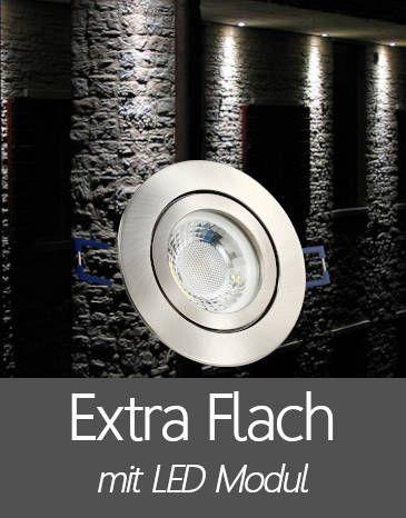 Außenleuchten Einbaustrahler IP44 mit Extra Flache LED Modul
