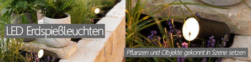 LED Erdspießstrahler Erdspießleuchten Garenleuchten für Pflanzen Beete in RGB warmweiß