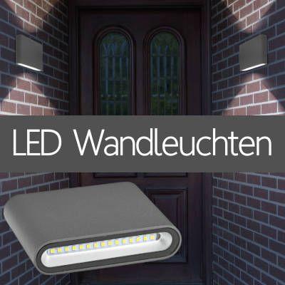 LED Wandleuchten Flach Haus Fassade Vordach IP54 IP67