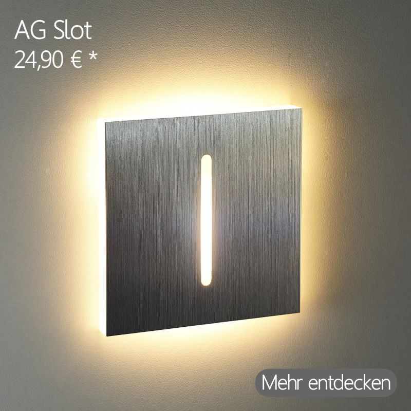 LED Stufenleuchte mit Schlitz