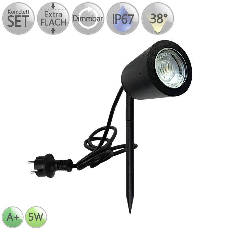 LED IP67 Erdspießstrahler Extra flach