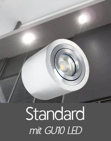 Außenleuchten Aufbaustrahler IP44 mit Standard GU10 LED