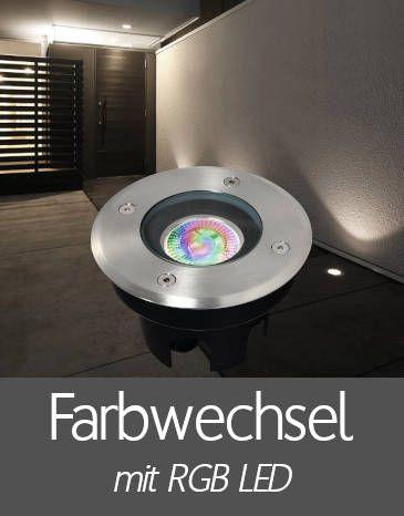 Bodenleuchten mit RGB LED