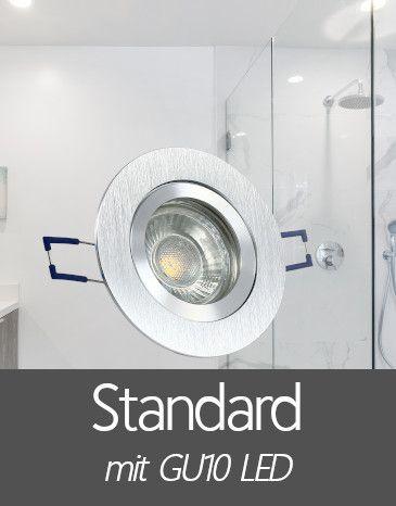 Bad Einbaustrahler mit Standard GU10 LED