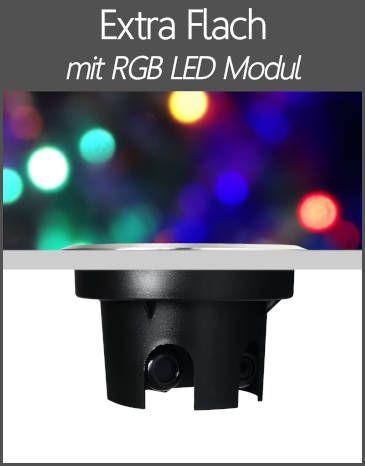 LED Bodenstrahler IP67 Extra Flach RGB Farbwechsel