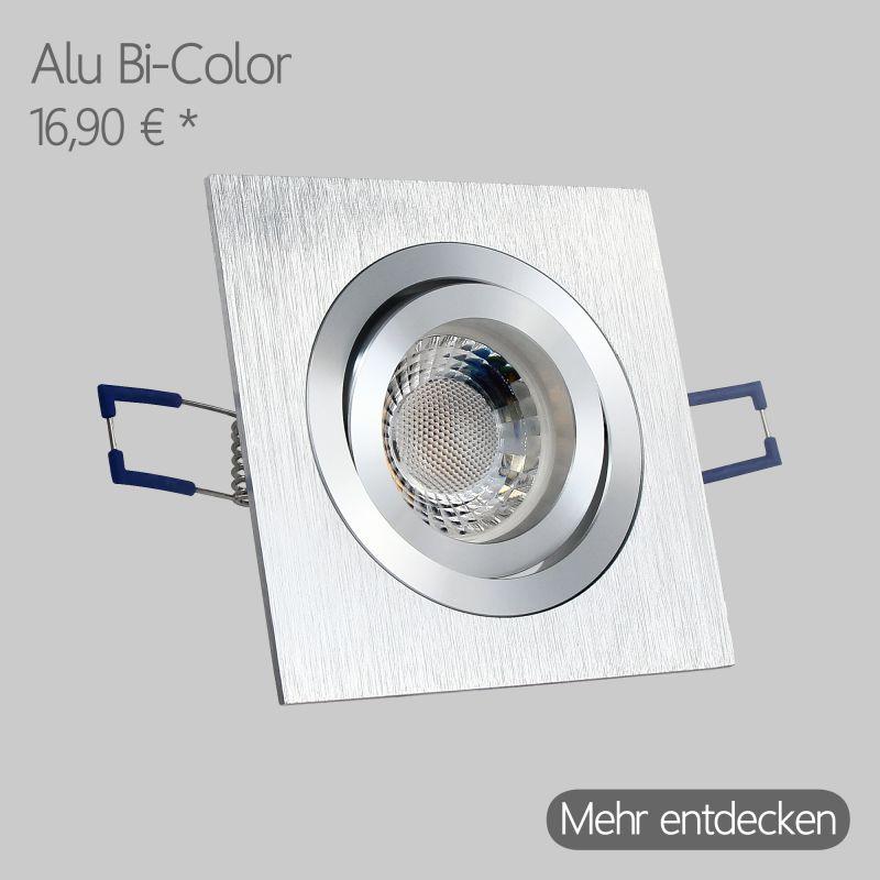 LED Alu Einbaustrahler Extra flach Eckig in Bi-Color