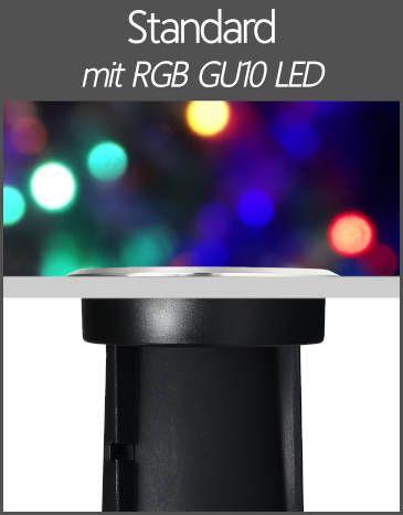 LED Bodenstrahler IP67 Standard GU10 RGB Farbwechsel