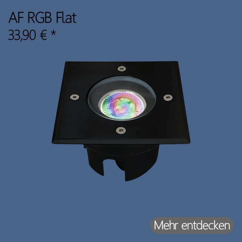 Flach Modul RGB LED Bodeneinbaustrahler Eckig in Schwarz